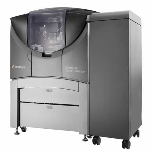 The Objet260 Dental Selection 3D Printer introduces advanced triple-jetting technology to dental labs for superior throughput and model realism. (Photo courtesy of Stratasys Ltd.)