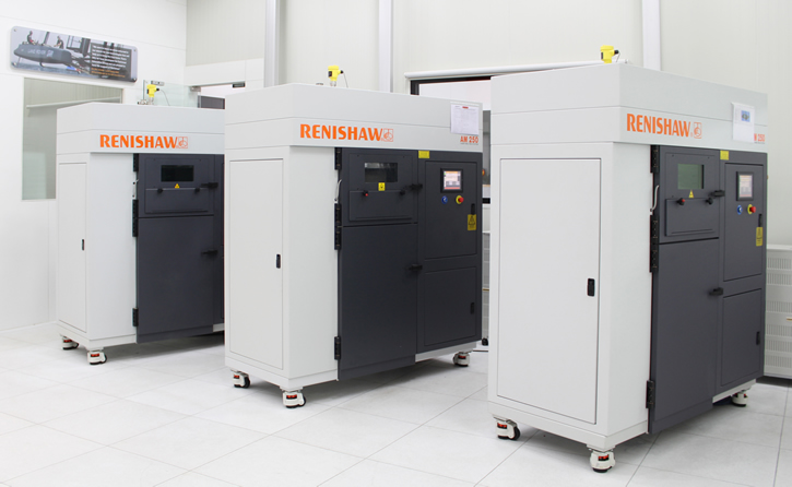 A line of additive manufacturing machines in Solutions Centre in Pune (Photo courtesy of Renishaw)