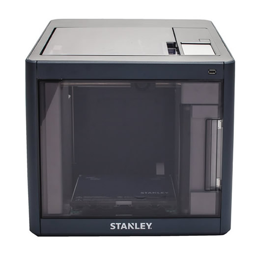 STANLEY® Model 1 3D Printer delivers a convenient desktop experience to beginners and experienced users who are interested in prototyping designs, developing concepts, and bringing ideas in a 3D form to life. (Photo courtesy of Stanley Black & Decker, Inc.)